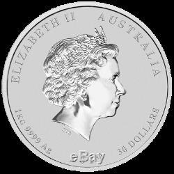 2019 Australia $30 Lunar II Year of the Pig 1 Kilo Kg Silver Colored Coin BU