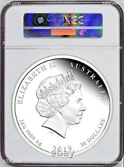 2019 Australia Lunar Year of the PIG 1 Kilo PROOF Silver $30 Coin NGC PF 69