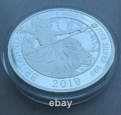 2019 Great Britain. The Britannia. 1 Kilo Silver pf. #19 of 85 Special Minted