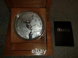 2019 Mexico 1 kg Kilo Kilogram Silver Libertad withBox & COA Mintage 500 coins