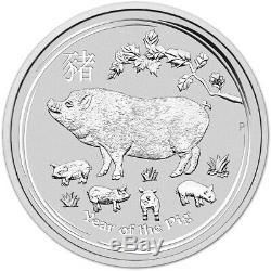 2019 P Australia Silver Lunar Year of the Pig Kilo 32.15 oz $30 BU