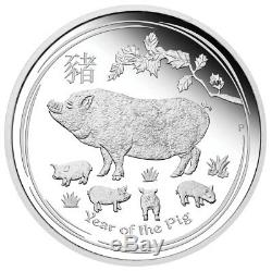 2019-P Australia Year of the Pig 1 Kilo Silver Lunar S2 $30 GEM Proof SKU55143
