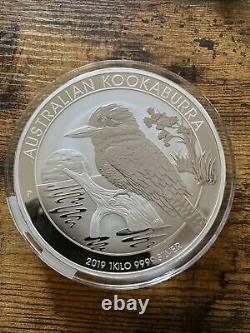 2019 kilo 9999 silver Kookaburra