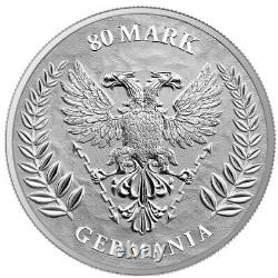 2020 1 Kilo Silver 80 Mark GERMANIA Coin, 100 Minted