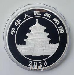 2020 China Panda 1 Kilo Silver Coin BOX and COA