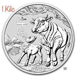 2020 Lunar Ox 1 Kilo Silver Coin