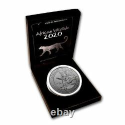 2020 Somalia 1 kilo Silver African Wildlife Leopard Premium SKU#221535