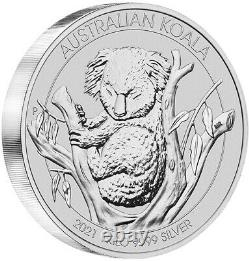 2021 Australian Koala 1kg. 9999 Silver Bullion Coin 1 Kilo The Perth Mint
