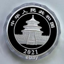 2021 China Panda 1 Kilo Silver Coin with BOX and COA