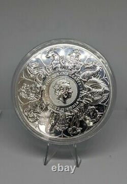 2021 Great Britain Queen's Beast Completer 1 Kilo Silver Coin In Hand