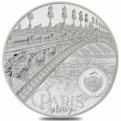 2021 Palau 1 Kilo Proof Silver Tiffany Art Metropolis Paris Coin. 999 Fine