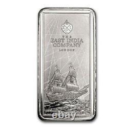 2021 St. Helena £10 Elizabeth II East India Company 250g 1/4 Kilo Silver Bar