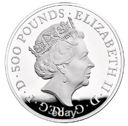 2021 The Queen's Beasts Completer UK 1 Kilo Silver Proof Coin Only 75 Minted
