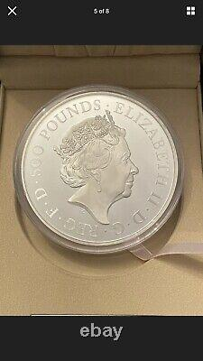 2021 The Queen's Beasts Completer UK 1kg Silver Proof Coin. One Kilogram 1 Kilo