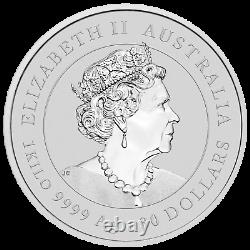 2021 Year of the OX 1 KILO. 9999 SILVER COIN AUSTRALIA with 1g Gold Privy Mark