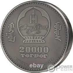 AMMONITE Evolution of Life 1 Kg Kilo Silver Coin 20000 Togrog Mongolia 2018