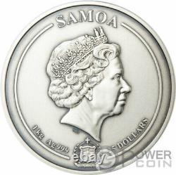 AZTEC EMPIRE 500th Anniversary Multilayer 1 Kg Kilo Silver Coin 25$ Samoa 2021