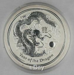 Australia 2012 Kilo Kilogram Silver $30 Coin Year of Dragon GEM BU In Capsule