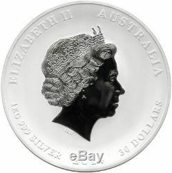 Australia Kilo Silver Lunar Series 2014 Year of The Horse BU Perth Mint with Box