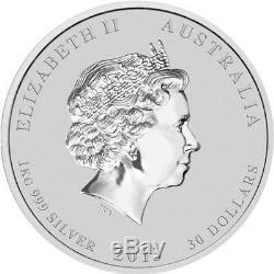 Australian Lunar Series II 2013 Year of the Snake 1kg Kilo Silver Coin Gemstone