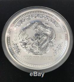 Australian lunar Chinese zodiac coin year of the Dragon 2000 1kilo
