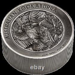 Australien 60 Dollar 2020 Kookaburra High Relief 2 Kilo Silber AF