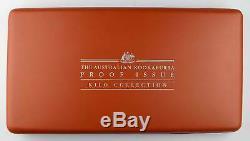 Australien Kookaburra 5 Coin PP PROOF Silber Silver 2004 1/2 1 2 10 Unzen Kilo