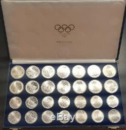 CANADA MONTREAL 76 UNC 5+10 Dollars 1974 1975 1976 SILVER SET 28 COINS 1 KILO