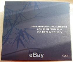 China 2014 1 Kilo Silver Panda Coin