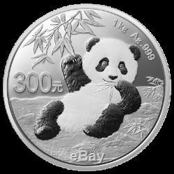 China 300 Yuan 2020 Panda 1 Kilo Silber PP Im Etui