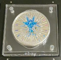 Cook Islands 2017 Moravian Star Crystal Giant 1 Kilo Pure Silver Coin