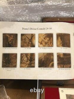 Divine Comedy Dante Alighieri Inferno 1 KG Kilo Silver Set 24 Coins 1$ Niue 2013