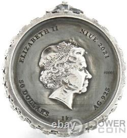 GERALT FROM RIVIA WHITE WOLF Witcher Book 1 Kg Kilo Silver Coin 50$ Niue 2021