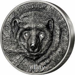 GULO GULO Wolverine Wildlife 1 Kg Kilo Silver Coin 20000 Togrog Mongolia 2020