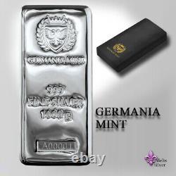 Germania Mint Cast 1 Kilo Silver Bar GEM BU Germania Mint Direct spring9 coins