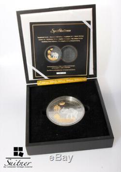 Golden Enigma 1 Kilo Silber Somalia Elefant 2016 Gold Ruthenium
