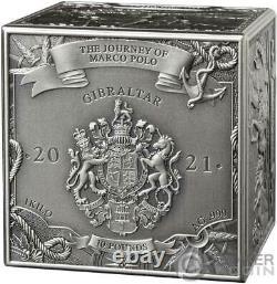 JOURNEY OF MARCO POLO Cube 1 Kg Kilo Silver Coin 10 Pounds Gibraltar 2021