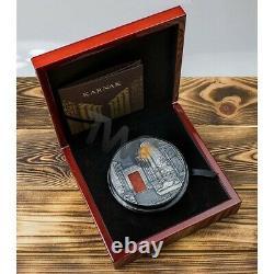 Karnak 1 Kilo Antique finish Silver Coin 10000 Francs CFA Republic of Chad 2018