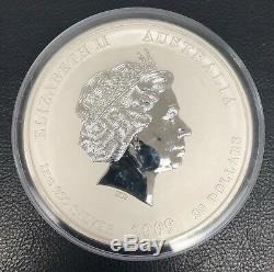 LUNAR YEAR OF THE OX 2009 Kilo Pure Silver Color Coin Australia Perth Mint