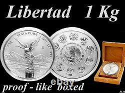 Libertad 2011 MEXICO 1 kg / Kilo SILVER-Coin, EXTREMELY RARE PROOF -like