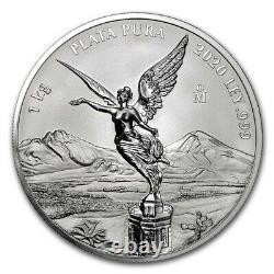 Libertad Mexico 2020 1 Kilo Pure Silver Proof Like Coin With Box & Coa