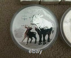 Lunar Ox 1 Kilo Silver. 2021. Mint condition. Silver bullion. Silver coin. AUS