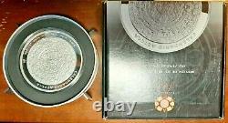 MEXICO AZTEC CALENDAR 2010 1 Kilo Pure Silver Proof Coin with Box and COA