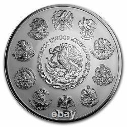 Mexico 1 kilo Silver Aztec Calendar (Random Year, Coin Only) SKU#197412