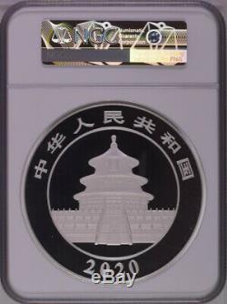 NGC PF70 2020 China Panda 1 Kilo Silver Coin with COA