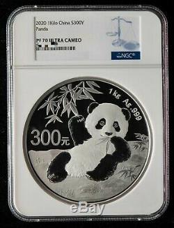 NGC PF70 UC China 2020 Silver 1 Kilo Panda Coin