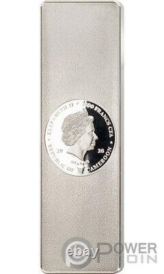NOBLE BAR Shangai Edition Kilo Set 10 Silver Coins 3000 Francs Cameroon 2020