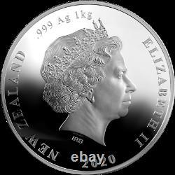 New Zealand 2020 20$ Brown Kiwi Kilo 1 kg 999 Silver Coin. 100 pcs Worldwide