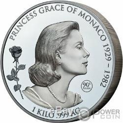PRINCESS GRACE KELLY Shadow Minting 1 Kg Kilo Silver Coin 25$ Samoa 2019