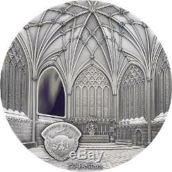 Palau 2017 $50 Tiffany Wells Cathedral 1 kg Silver-Kilo Coin Limited Edition